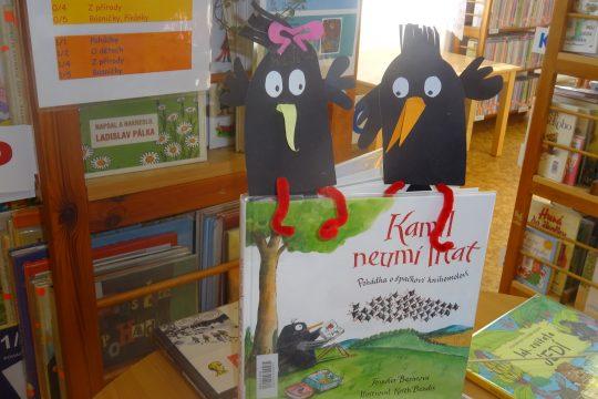Návštěva prvňáčků v knihovně obrázek