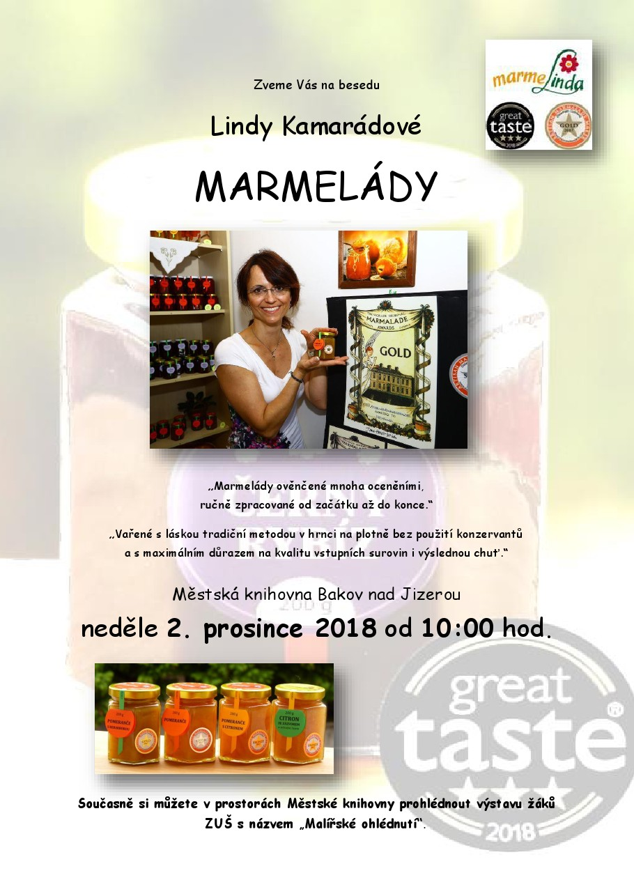 Beseda Lindy Kamarádové o marmeládách