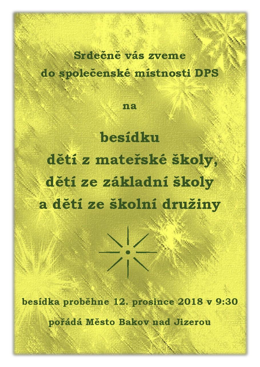 Besídka v DPS