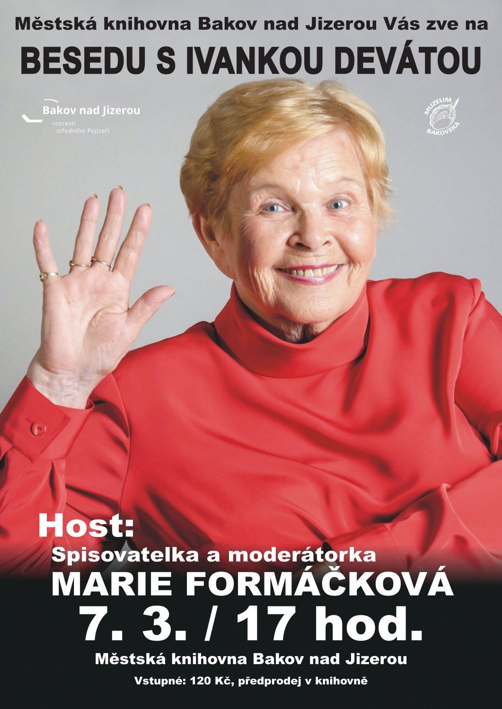 Beseda herečky a spisovatelky Ivanky Deváté