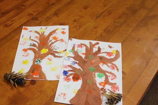 Podzimní vyrábění v knihovně obrázek